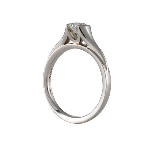 SHOLDT DESIGN- Organic Half Bezel Solitaire with Diamond