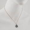 Margaret Solow -  Moonstone and Diamond Halo Pendant Necklace