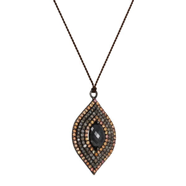Margaret Solow - Pave Marquis Diamond and Sapphire Necklace