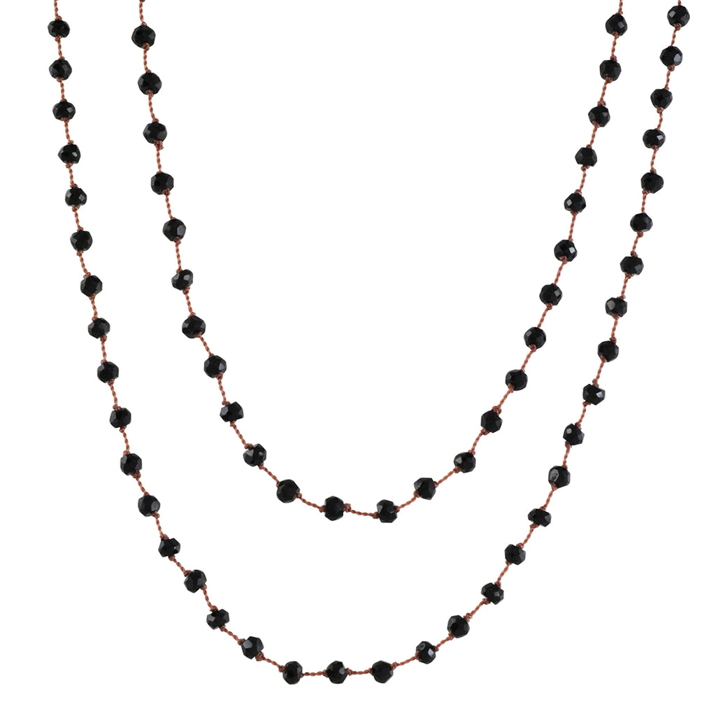 CHRISTINA STANKARD - Long  Bead Necklace in Black