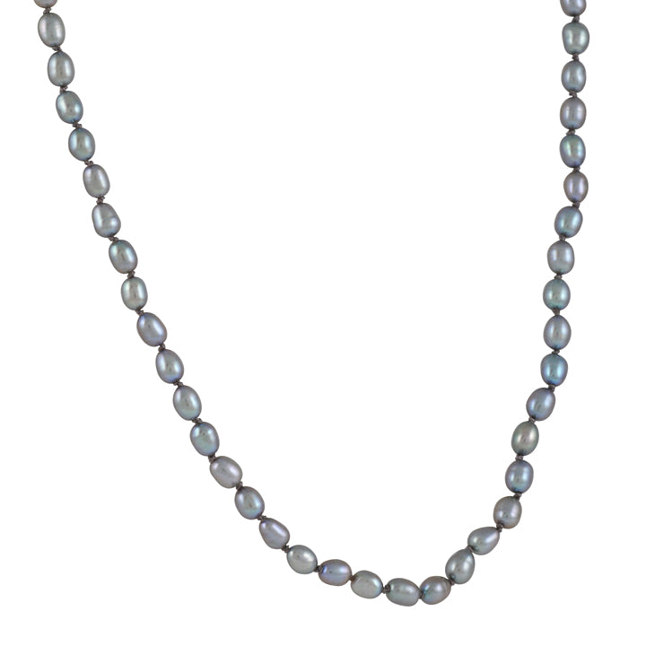 CHRISTINA STANKARD - Oval Grey Pearl Necklace