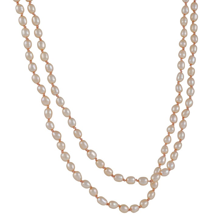 CHRISTINA STANKARD - Long Champagne Pearl Necklace