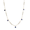 CHRISTINA STANKARD - Kyanite and Pearl Blossom Necklace