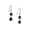 CHRISTINA STANKARD - Blossom Pyrite and Black Earrings