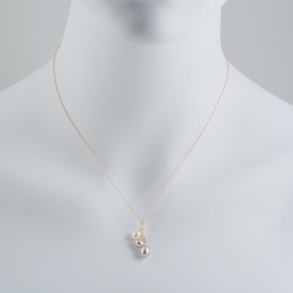 CHRISTINA STANKARD - Triple Pearl Drop Necklace