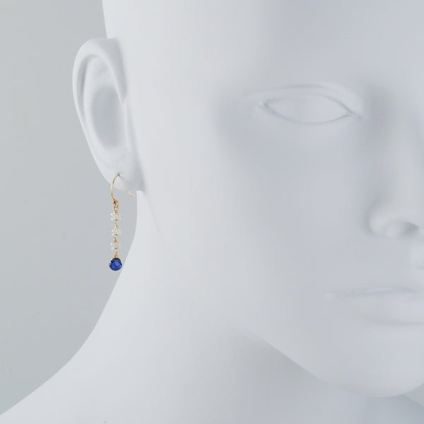CHRISTINA STANKARD - Blossom Pearl and Kyanite Earrings