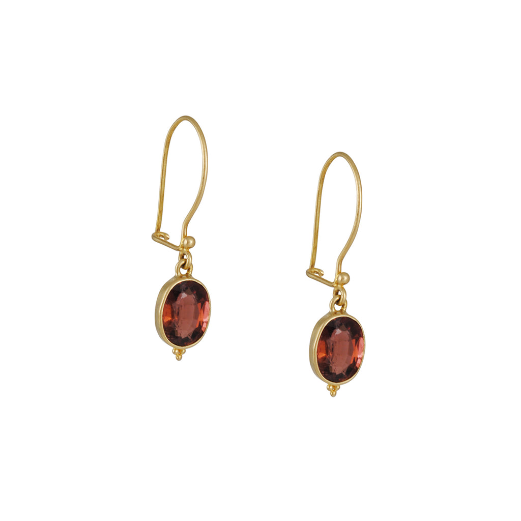 Steven Battelle - Deep Pink Tourmaline Earrings