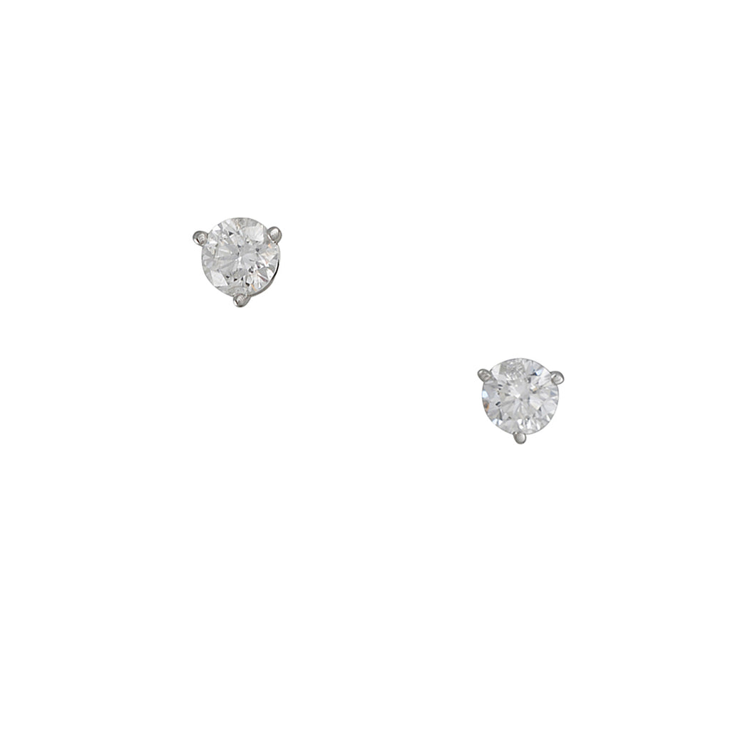 CP COLLECTIONS - 1.00 CTTW Diamond Stud Earrings in 14k White Gold