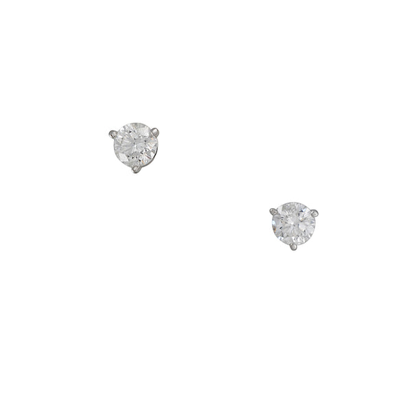 CP Collection - 1.00 cttw Diamond Stud Earrings in 14k White Gold