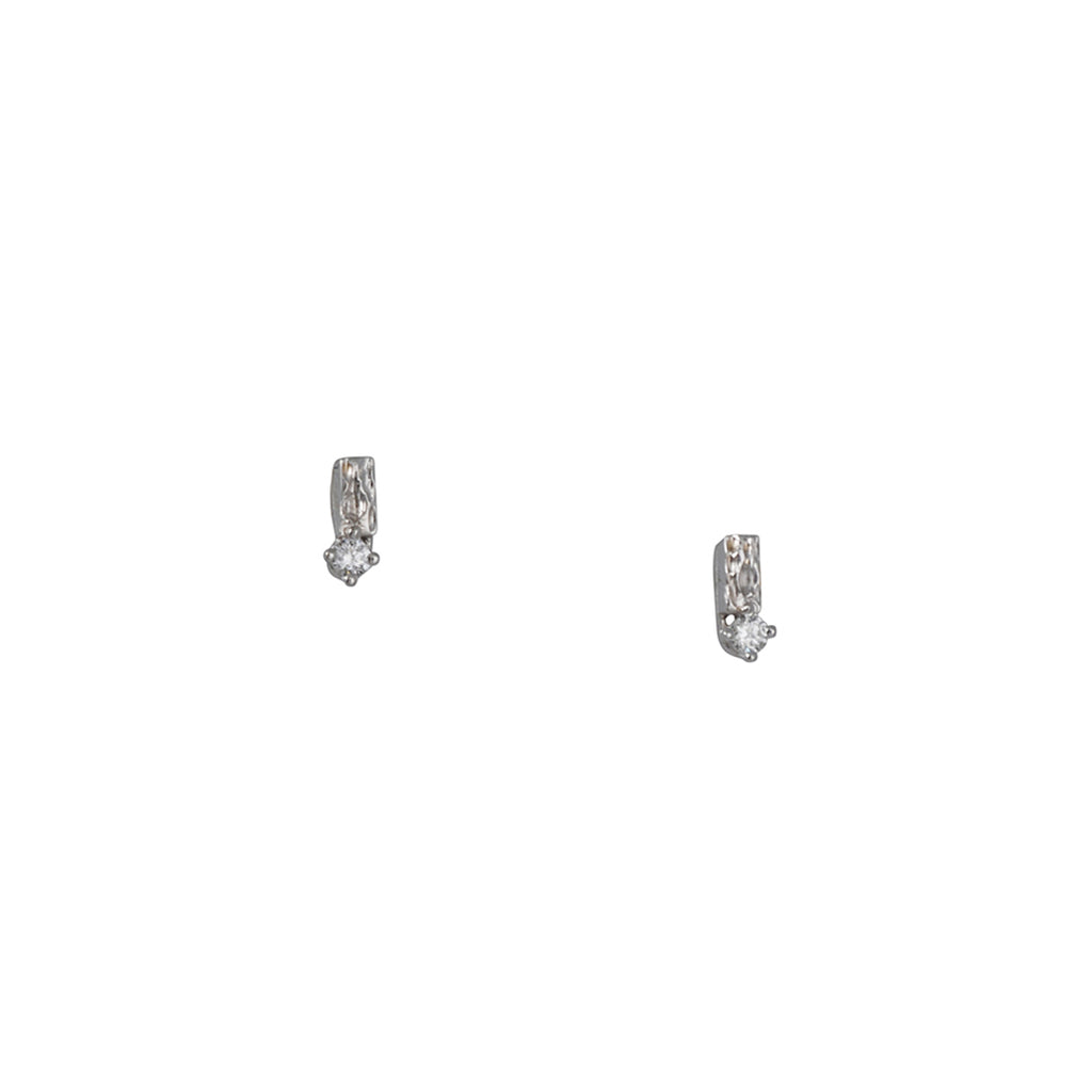 Suzanne Kalan - Textured Diamond Studs