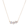 SUZANNE KALAN - Large Moonstone Uneven Bar Necklace in 14 Rose Gold