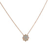 SUZANNE KALAN - Opal Pendant Necklace in Rose Gold