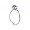 SUZANNE KALAN - Prong Set Blue Topaz Ring in White Gold