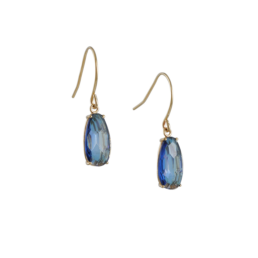 SUZANNE KALAN - Simple Pear London Blue Topaz Earrings