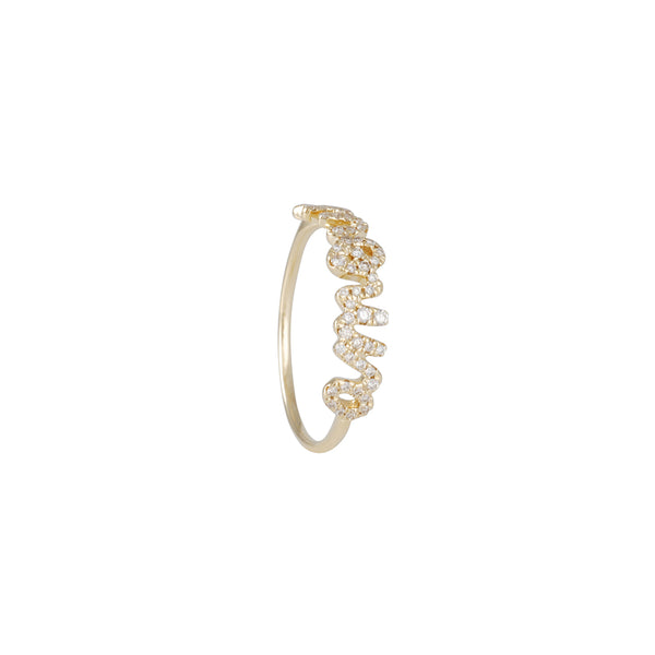 "Sydney Evan - Pave Diamond ""Amour"" Ring"