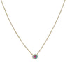 SYDNEY EVAN - Ruby and Enamel Eye 14K yellow Gold Necklace, 16-18""