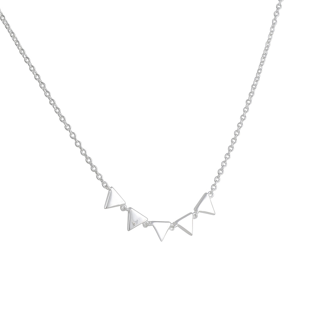 TASHI - Little Triangles Necklace in Sterling Silver