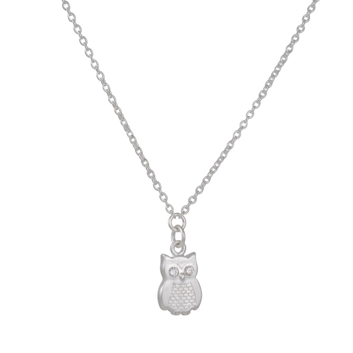 TASHI - Wide Awake Owl Necklace