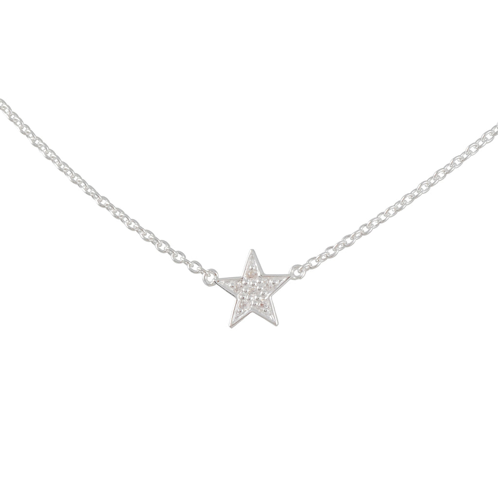 TASHI - Star Necklace with Pave CZs