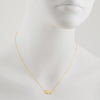 TASHI - Tiny Lotus Blossom Necklace in Gold Vermeil