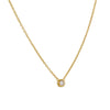 TASHI - Chain Necklace with Bezel Set CZ in Gold Vermeil