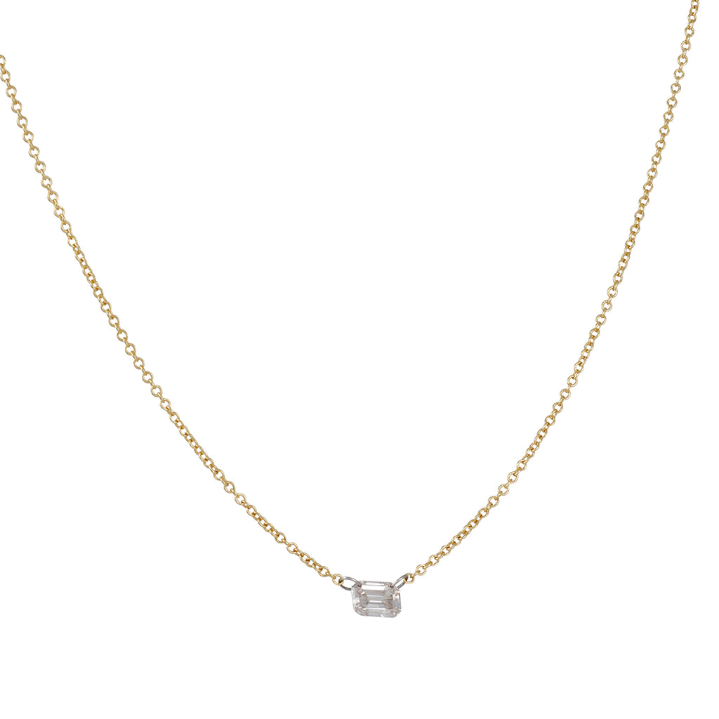 TAP by Todd Pownell - Exclusive Diamond Foundry Necklace with Emerald Cut Diamond on 18K Gold Chain