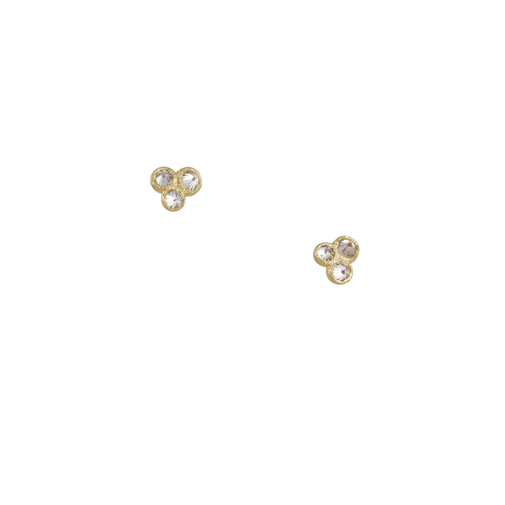 TAP BY TODD POWNELL - Triple Inverted Diamond Stud Earrings in 18K Gold