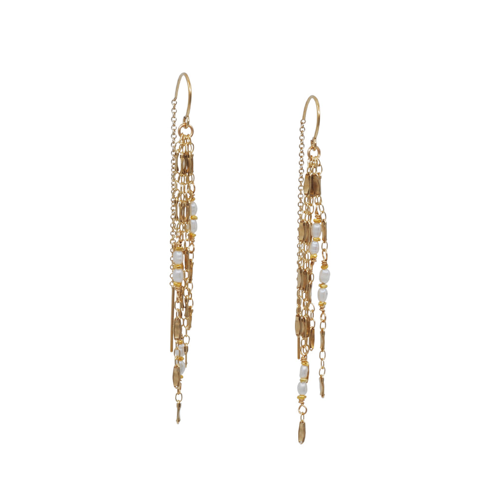 Kate Winternitz - Sophie Sapphire Fringe Earrings