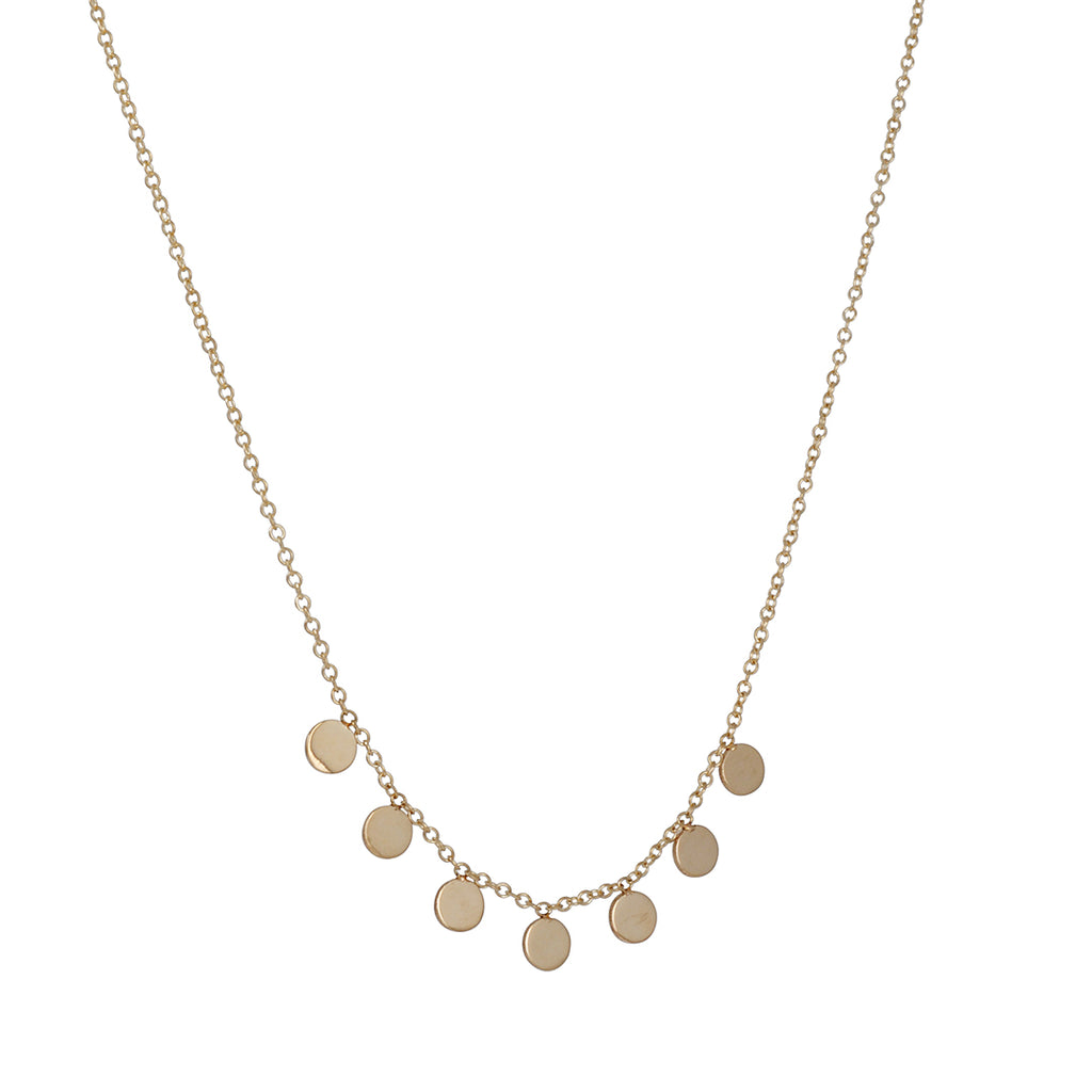 Zoe Chicco - Round Disc Necklace