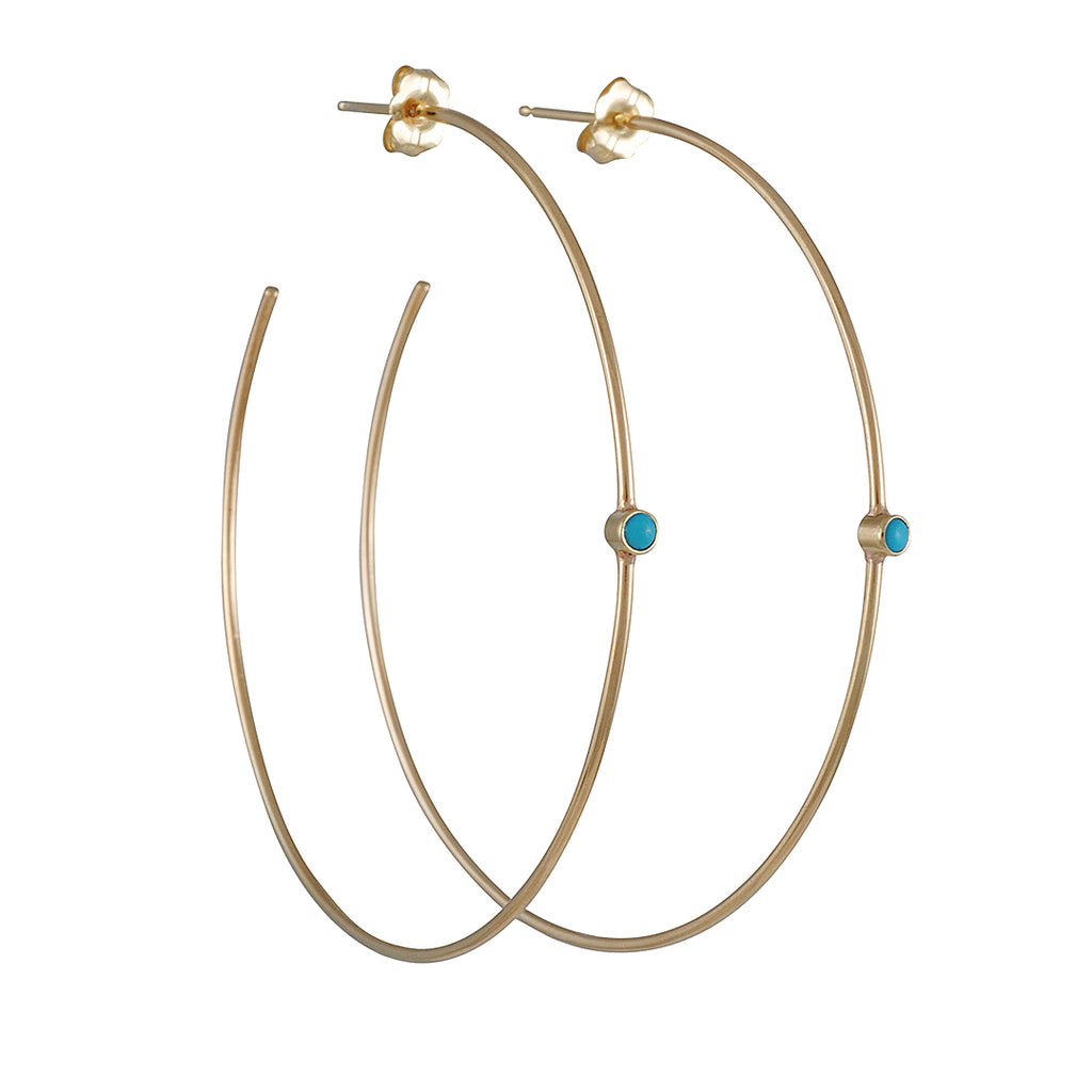 Zoe Chicco - Turquoise Center Hoops
