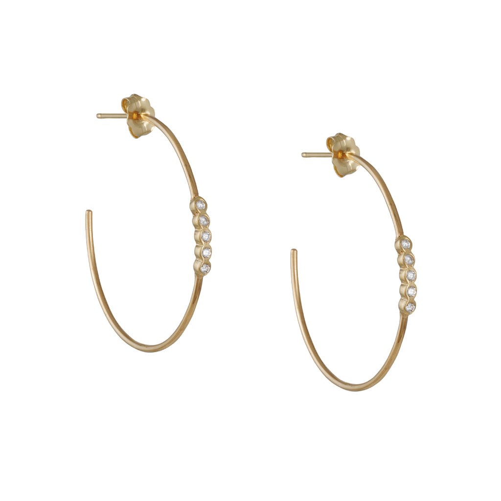 Zoe Chicco - 5 Diamond Hoops