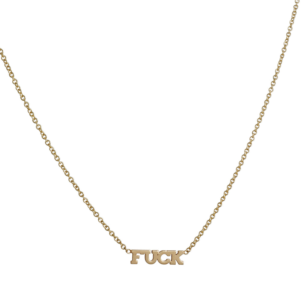 Zoë Chicco - Itty Bitty F**K Necklace in 14K Gold