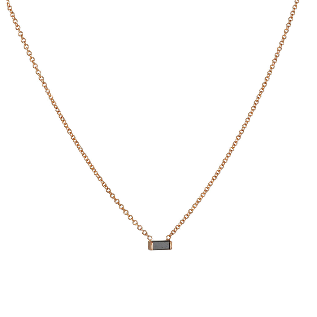 Zoe Chicco - Black Diamond Baguette Necklace