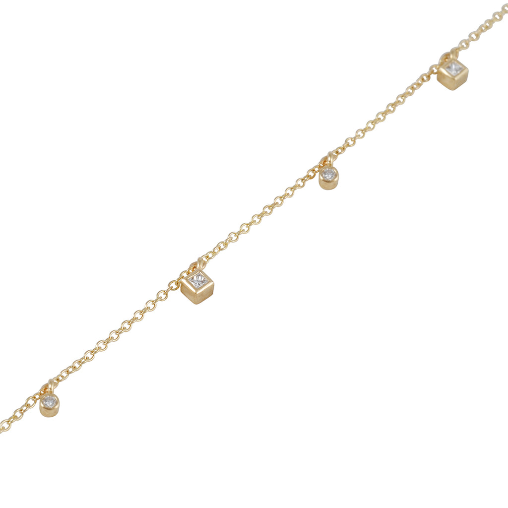 ZOE CHICCO - Diamond Charm Bracelet in 14K Gold