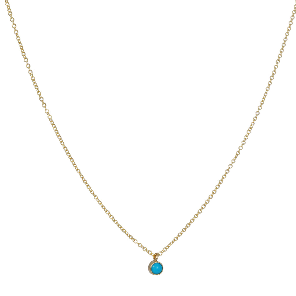 ZOE CHICCO - Small Cabachon Turquoise Necklace