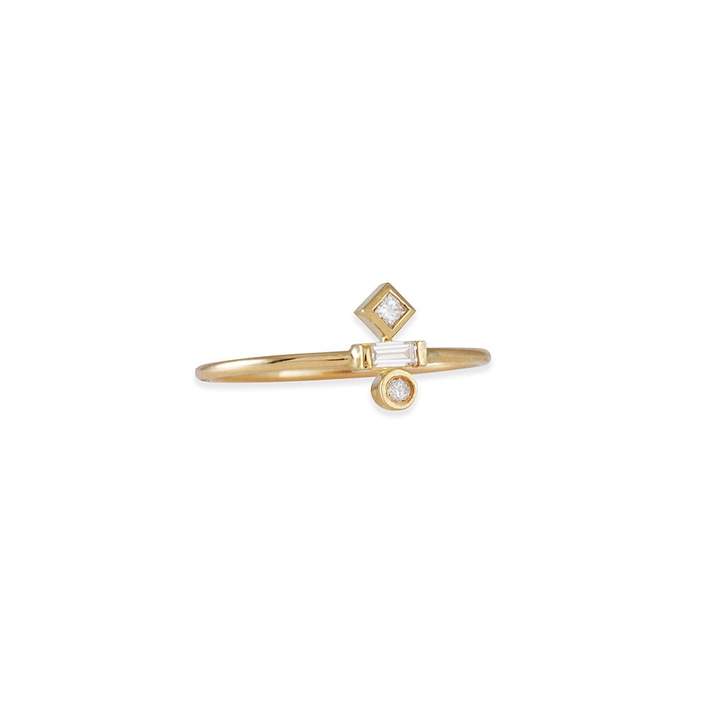 Zoe Chicco - Stacked Diamond Trio Ring