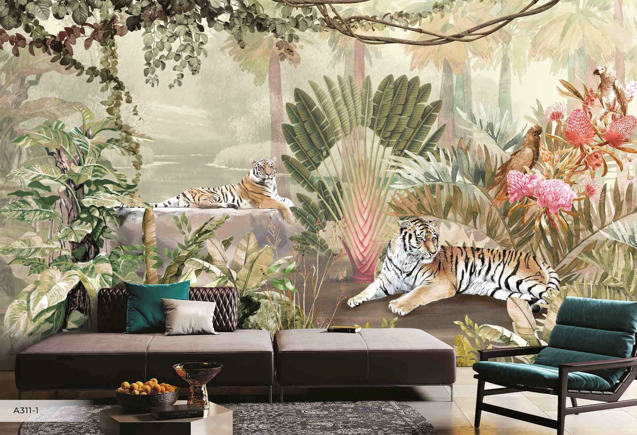 Papier peint Jungle & Tiger - Papier peint - muralconcept