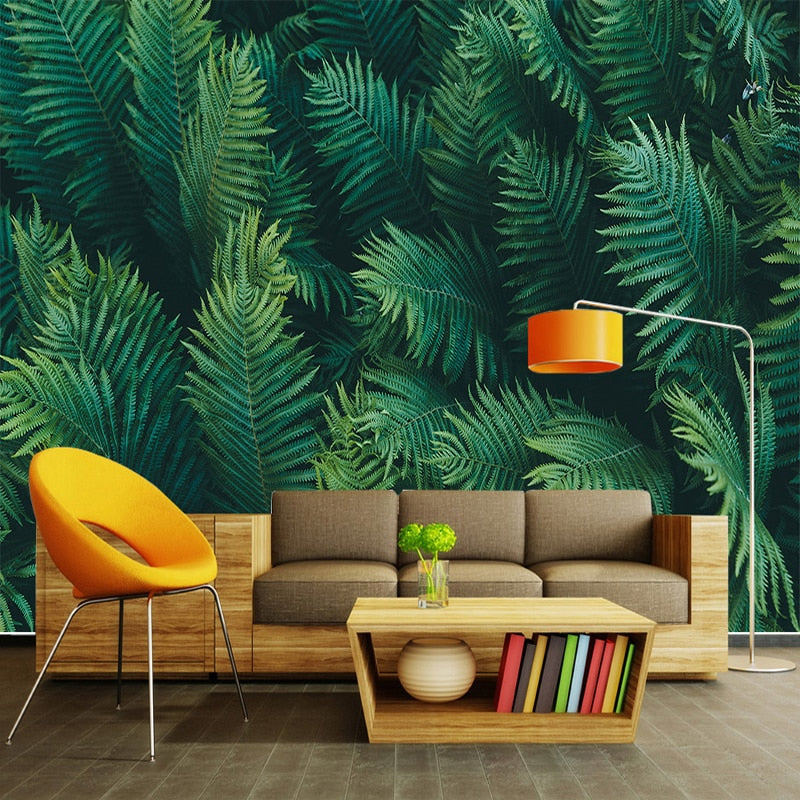 Papier peint Jungle Palm Green - Papier peint - muralconcept