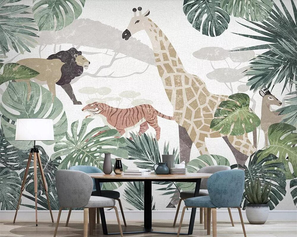 Papier peint Jungle Kid - Papier peint - muralconcept