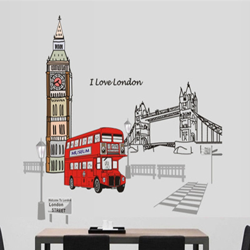 Sticker Mural - Love London - stickers - muralconcept