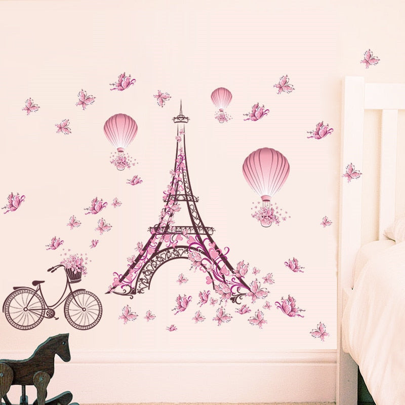 Sticker Mural - Romantique Eiffel - stickers - muralconcept