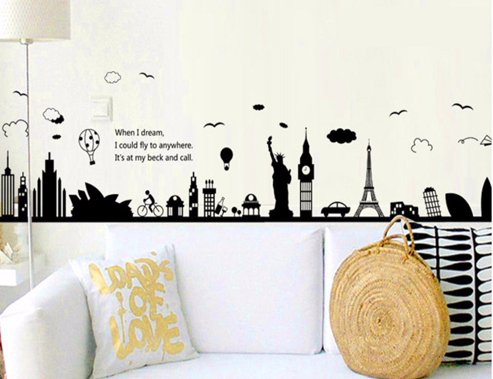 Sticker Mural - Monument Monde - stickers - muralconcept