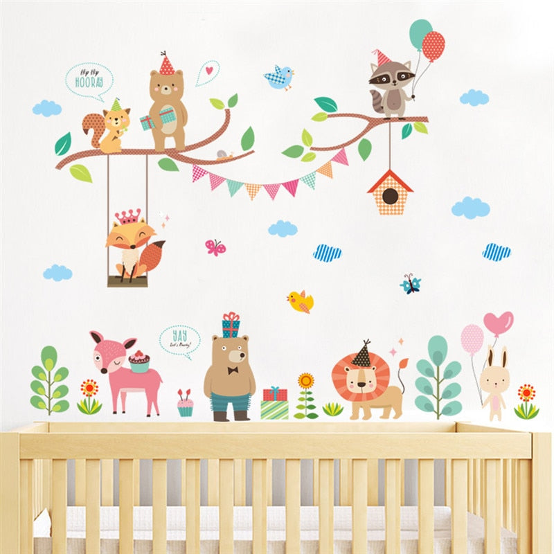 Sticker Mural - Forêt Party - stickers - muralconcept