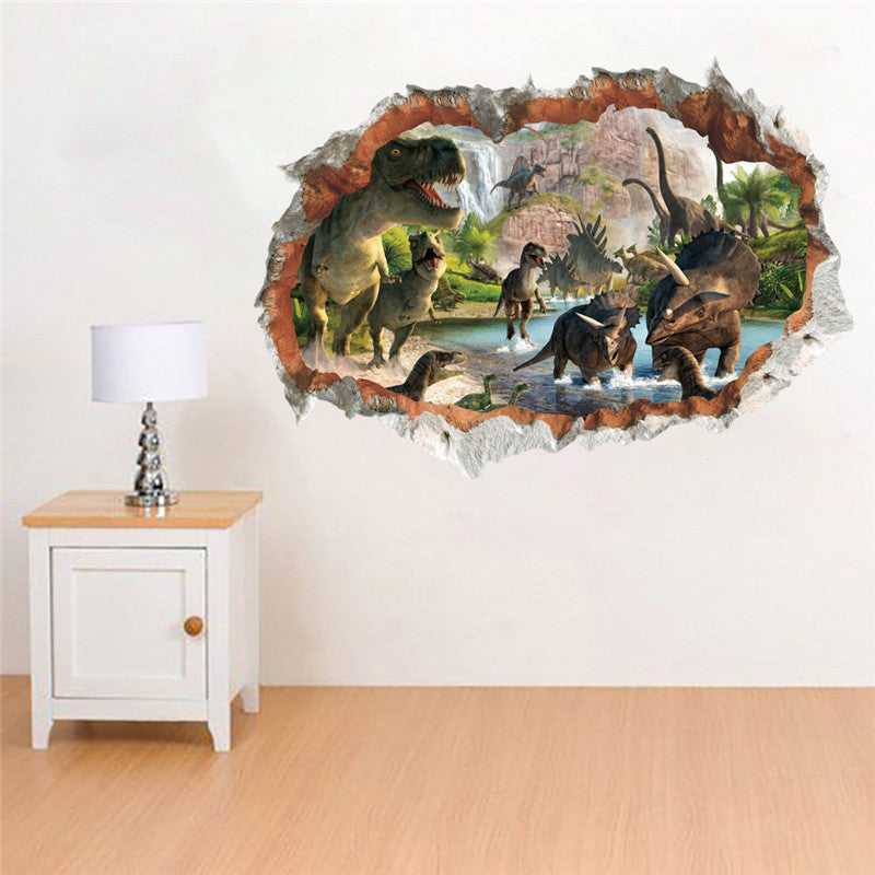 Sticker Mural - Dinosaure 3D - stickers - muralconcept