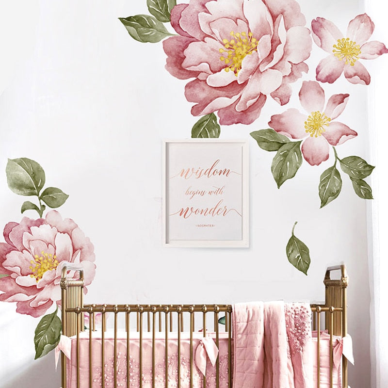 Sticker Mural - Fleur Romantique - stickers - muralconcept