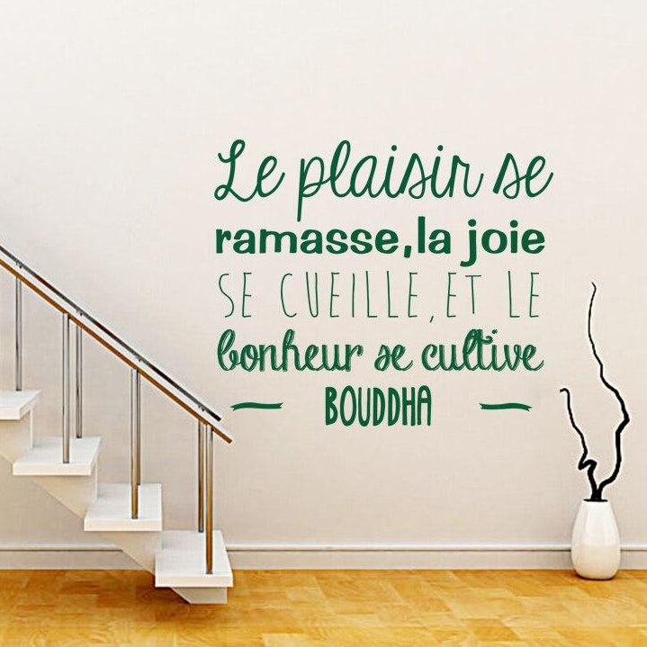 Sticker Mural - Citation Bonheur - stickers - muralconcept