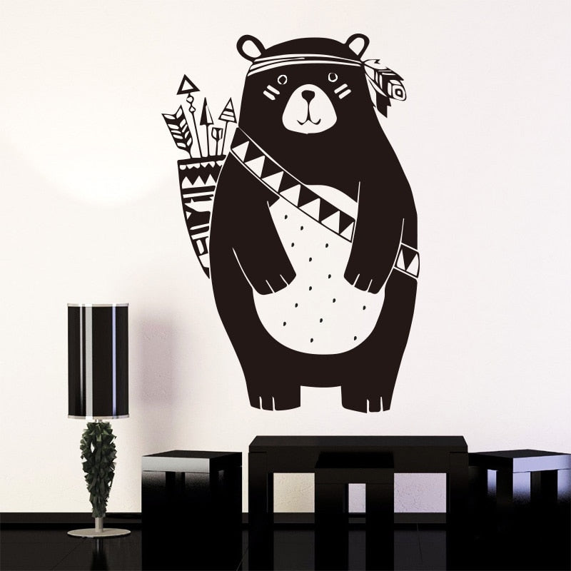 Sticker Mural - Ours tribal - stickers - muralconcept