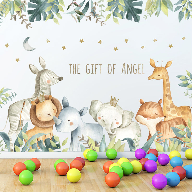 Sticker Mural - Animaux de la Jungle - stickers - muralconcept