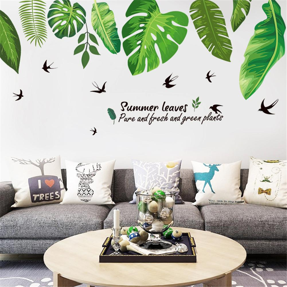 Sticker Mural - Feuilles vertes - stickers - muralconcept
