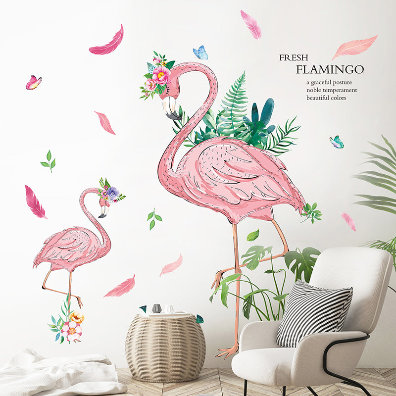 Sticker Mural - Flamant Rose Girly - stickers - muralconcept
